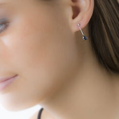 Boucles D'oreilles Pendantes Goutte Or Blanc Saphir - Boucles d'oreilles Pendantes Femme | Marc Orian