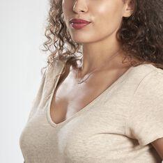 Collier Raia Argent Blanc - Colliers Femme   Marc Orian