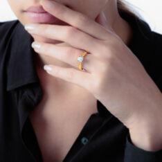 Solitaire Or Jaune Grace Et Diamant - Bagues Solitaire Femme | Marc Orian