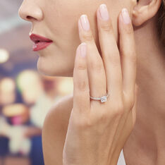 Bague Solitaire Celina Argent Blanc Oxyde De Zirconium - Bagues Solitaire Femme | Marc Orian