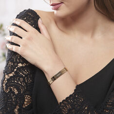 Bracelet Jonc Jeanne-lise Plaque Or Jaune - Bracelets fantaisie Femme   Marc Orian