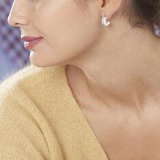 Créoles Noci Argent Blanc Céramique Et Oxyde De Zirconium - Boucles d'oreilles Créoles Femme   Marc Orian
