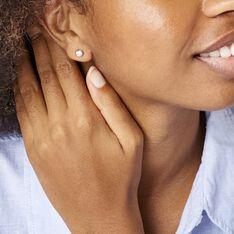 Boucles D'oreilles Puces Daria Serti Clos Or Rose Oxyde De Zirconium - Clous d'oreilles Femme | Marc Orian