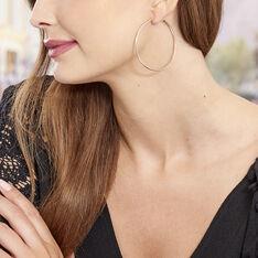 Créoles Abeline Flexible Argent Rose - Boucles d'oreilles Créoles Femme | Marc Orian