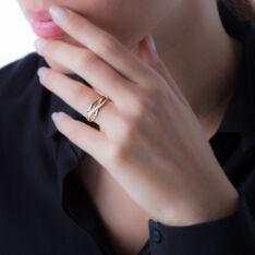 Bague Or Bicolore Croix Diamants - Bagues Femme | Marc Orian