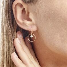 Boucles D'oreilles Pendantes Salvine Or Jaune Perle De Culture - Boucles d'oreilles Pendantes Femme | Marc Orian