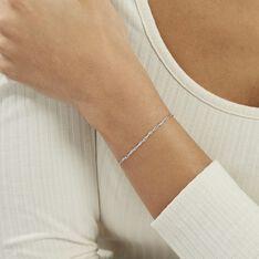 Bracelet Saman Argent Blanc - Bracelets chaînes Femme | Marc Orian