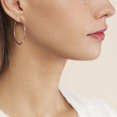 Créoles Valencina Flexibles Rondes Or Rose - Boucles d'oreilles Créoles Femme | Marc Orian