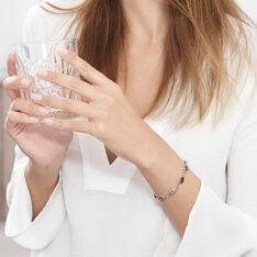 Bracelet Argent Ambres Poires Multicolores - Bracelets chaînes Femme | Marc Orian