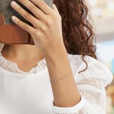 Bracelet Elea Argent Blanc - Bracelets chaînes Femme | Marc Orian
