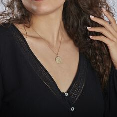 Collier Astro Plaque Or - Colliers Femme   Marc Orian