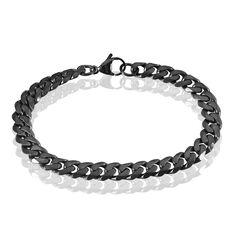 Bracelet Hippolite Maille Fantaisie Acier Noir - Bracelets chaînes Homme | Marc Orian