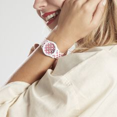 Montre Disney Blanc Et Rose Fushia - Montres Femme   Marc Orian
