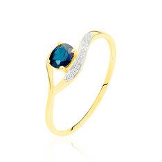 Bague Sagesse Or Jaune Saphir Et Diamant - Bagues Solitaire Femme | Marc Orian
