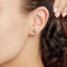 Boucles D'oreilles Puces Or Rose Boule - Clous d'oreilles Femme | Marc Orian