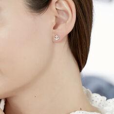 Boucles D'oreilles Puces Marisa Ancres Or Jaune Oxyde De Zirconium - Clous d'oreilles Femme | Marc Orian