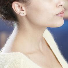 Boucles D'oreilles Puces Audrica Or Jaune Oxyde De Zirconium - Clous d'oreilles Femme | Marc Orian