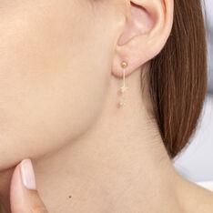 Boucles D'oreilles Or Jaune Etoiles - Boucles d'oreilles Pendantes Femme | Marc Orian