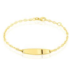 Bracelet Identité Fanelia Maille Marine Or Jaune - Gourmettes Enfant | Marc Orian