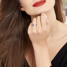 Bague Sylvestine Or Blanc Saphir Et Diamant - Bagues Solitaire Femme | Marc Orian