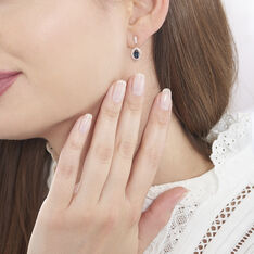 Boucles D'oreilles Pendantes Janna Or Rose Topaze Et Oxyde - Boucles d'oreilles Pendantes Femme | Marc Orian