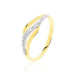 Bague Smeralda Or Bicolore Diamant - Bagues Femme   Marc Orian