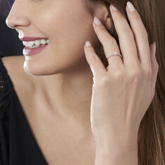 Solitaire Or Blanc Laetitia Diamant - Bagues Solitaire Femme | Marc Orian