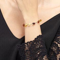 Bracelet Argent Ambres Multicolores - Bracelets fantaisie Femme | Marc Orian