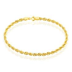 Bracelet Jerry Maille Corde Or Jaune - Bracelets mailles Femme   Marc Orian