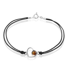Bracelet Argent Coeur Cordon - Bracelets cordons Femme | Marc Orian