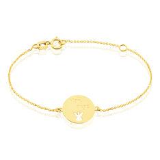 Bracelet Omelia Message Or Jaune - Bracelets chaînes Enfant | Marc Orian