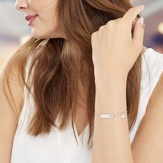 Bracelet Marlaine Argent Blanc - Bracelets chaînes Femme | Marc Orian