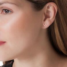 Boucles D'oreilles Celene Or Rose - Clous d'oreilles Femme | Marc Orian
