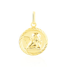 Pendentif Ange Rond Sable Or Jaune - Pendentifs Famille | Marc Orian