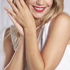Bracelet Veroniica Argent Rose - Bracelets chaînes Femme   Marc Orian