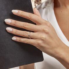Bague Selene Or Blanc Diamant - Bagues Solitaire Femme | Marc Orian