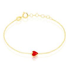 Bracelet Coralie Coeur Or Jaune - Bracelets chaînes Enfant | Marc Orian