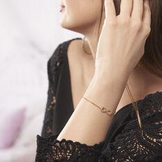 Bracelet Plaque Or Et Oxyde - Bracelets chaînes Femme | Marc Orian