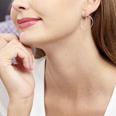 Boucles D'oreilles Pendantes Enissa Argent Blanc - Boucles d'oreilles Créoles Femme   Marc Orian