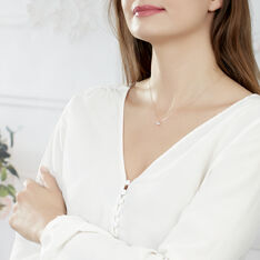 Collier Ginila Or Rose Diamant - Colliers Femme   Marc Orian