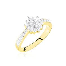 Bague Or Jaune Chou Diamants - Bagues fiançailles Femme | Marc Orian