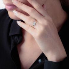 Bague Amayas Or Bicolore Diamant - Bagues Femme | Marc Orian