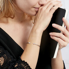Bracelet Jonc Danae Argent Blanc Oxyde De Zirconium - Bracelets fantaisie Femme | Marc Orian
