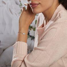 Bracelet Asnia Argent Blanc Oxyde De Zirconium - Bracelets chaînes Femme | Marc Orian