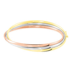 Bracelet Jonc Catalin 3 Fils Flexibles Or Tricolore - Bracelets jonc Femme   Marc Orian