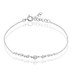 Bracelet Odyssee Argent Blanc Oxyde De Zirconium - Bracelets chaînes Femme | Marc Orian