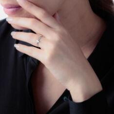 Bague Ah Or Blanc Oxyde De Zirconium - Bagues Solitaire Femme   Marc Orian