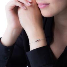 Bracelet Courbes Or Blanc Diamant - Bracelets chaînes Femme | Marc Orian