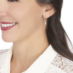 Boucles D'oreilles Pendantes Clodie Or Rose Diamant - Boucles d'oreilles Pendantes Femme | Marc Orian