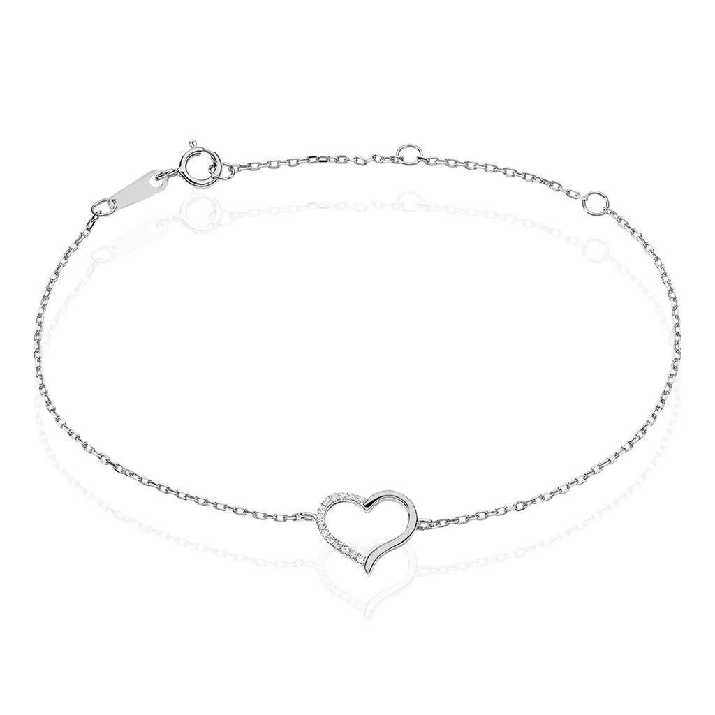 Bracelet Bertille Argent Blanc Oxyde De Zirconium - Bracelets chaînes Femme | Marc Orian
